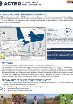ACTED Mali-Fact Sheet-20180531
