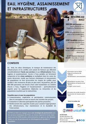 ACTED Mali Eau Hygiène et Assainissement Infra