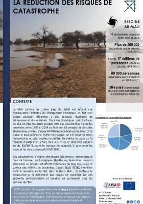 ACTED Mali Réduction des risques de catastrophe