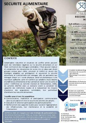 ACTED Mali Sécurité Alimentaire
