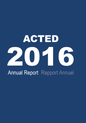 Rapport annuel ACTED 2016