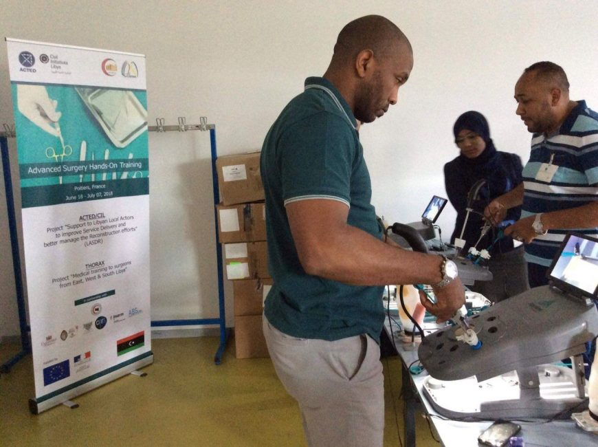 surgery training for Libyan surgeons in Poitiers