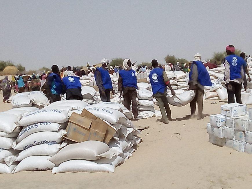 ACTED distribue des vivres aux populations déplacées
