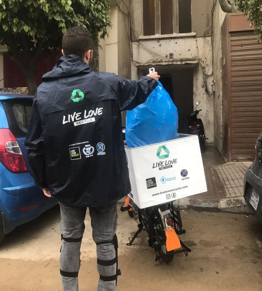 The Live Love Recycle programme is built around refugee and Lebanese participants from vulnerable backgrounds, trained and ready to gather recyclables from households across Beirut.