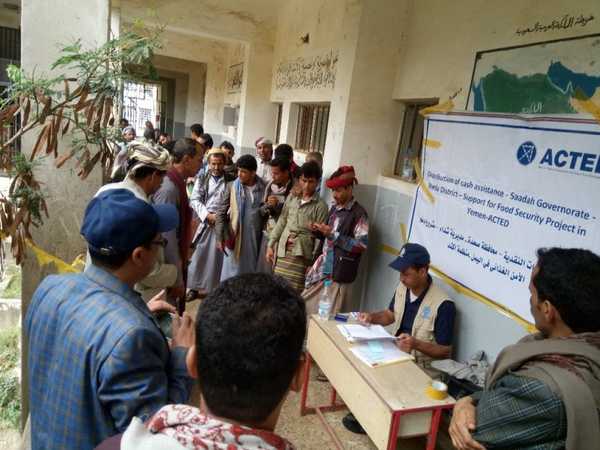 Cash distribution in Sa'ada