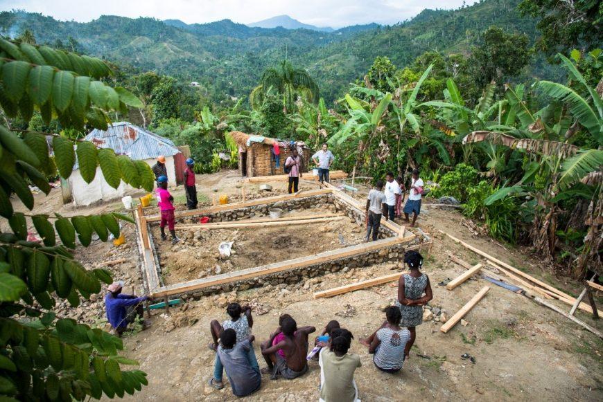 Site de construction à Haiti
