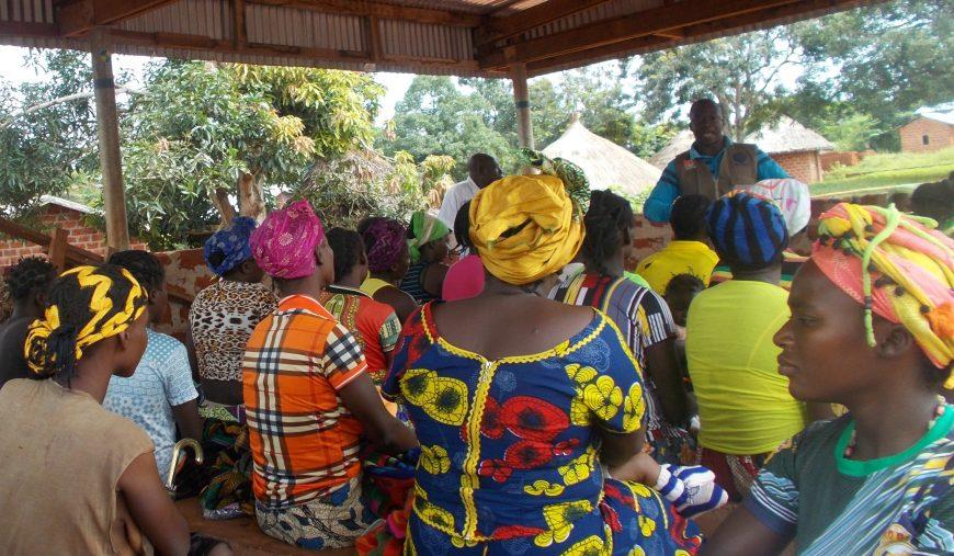 Sensibilisations communautaires réalisées par les équipes d'ACTED dans le cadre de l'agenda PAF – Photo prise par ACTED, 2019, projet financé par le Fonds Humanitaire