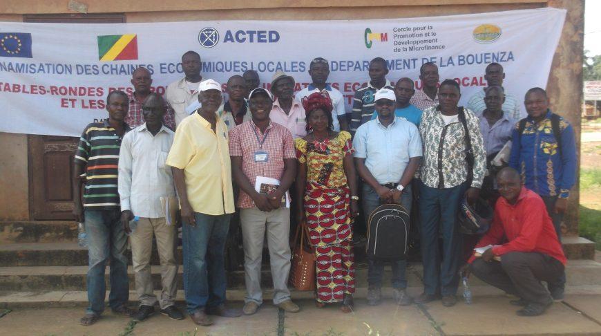 Fin de la table ronde réunissant les institutions de Microfinance, promoteurs des initiatives économiques locales et groupement d'intérêt économique de Madingou.
