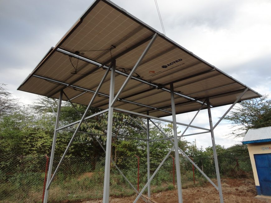 Solar panels, Churo village, Kenya