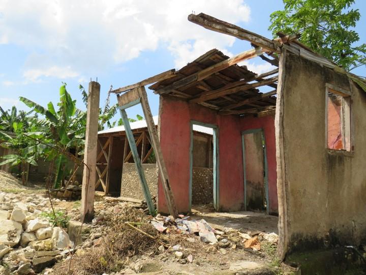Dégâts considérables sur les habitations